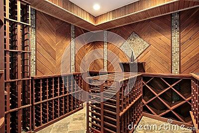 Wine cellar with multiple racks