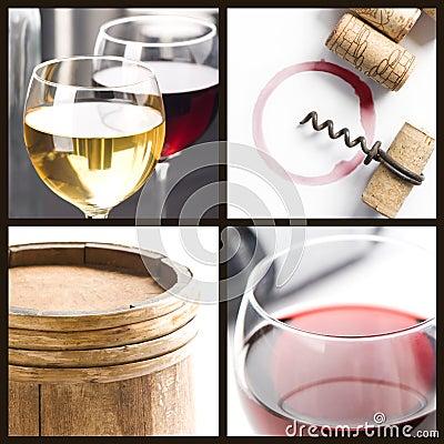 Free Wine Collage Royalty Free Stock Photos - 10647158