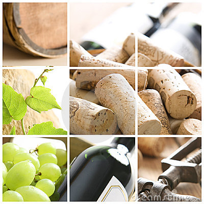 Free Wine Collage Stock Photography - 9638432