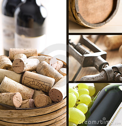 Free Wine Collage Royalty Free Stock Images - 9638909