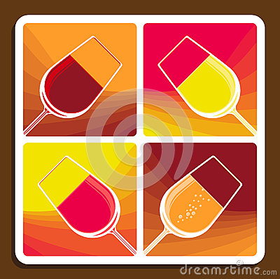 Free Wine Collage Showing Different Varieties Stock Image - 32702651