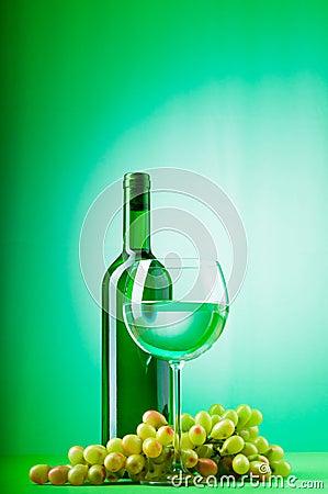 Wine concept with gradient