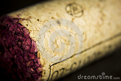 Wine cork in detail