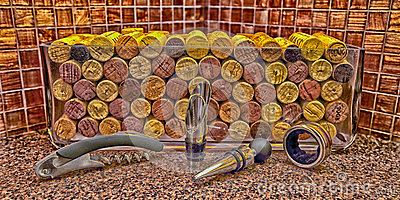 Wine Corks & Accessories Editorial Image