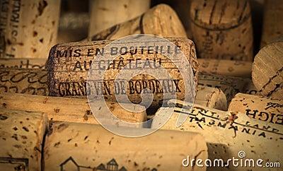 Wine Corks Bordeaux Editorial Image