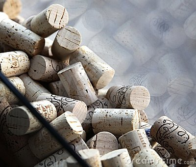 Wine Corks in a Window, Niagara, Canada