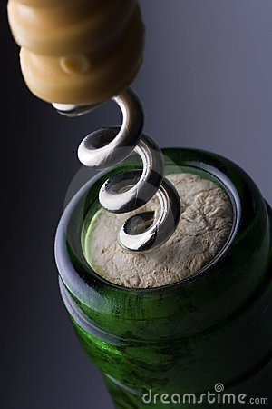 Free Wine Corkscrew Stock Photo - 1840260