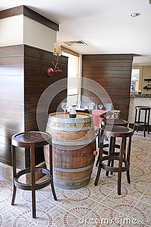 Wine degustation bar