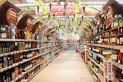Alcohol store Editorial Image