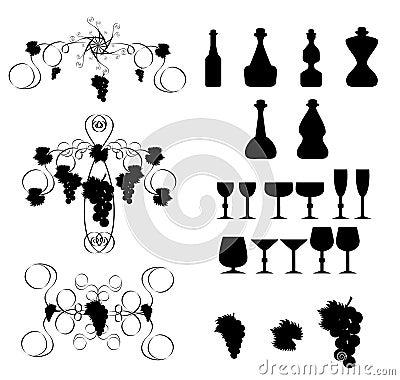 Wine design elements 2