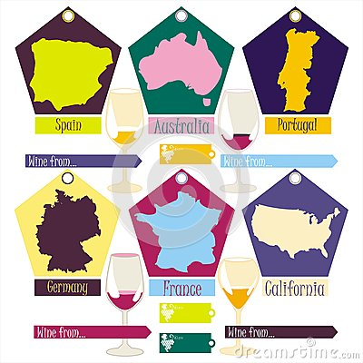 wine from the different countries of the world