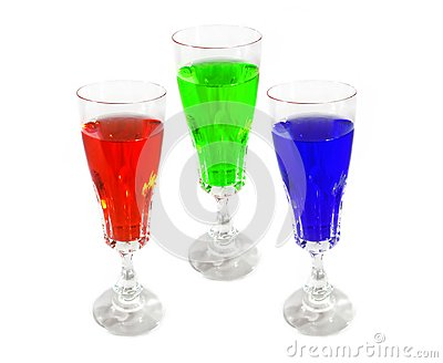 Wine drink glasses colored