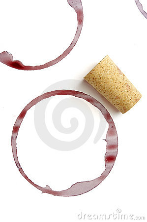 Wine drink marks and cork