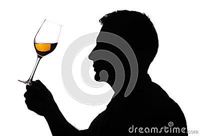 Wine expert testing wine