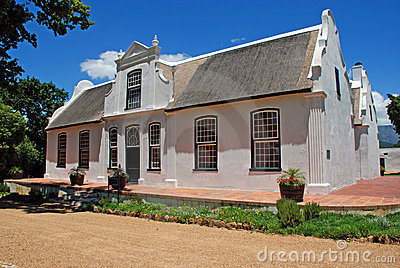 Wine farmhouse in colonial style (South Africa)
