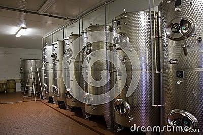 Wine fermentaion tanks