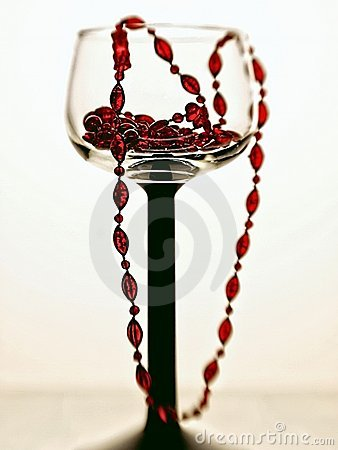 Wine Glass and Beads Abstract