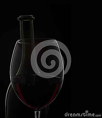 Wine glass & bottle