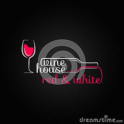Free Wine Glass Bottle House Design Background Royalty Free Stock Photo - 37008035