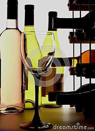 Wine Glass & Bottles