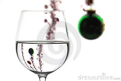 Wine glass and christMAS DECORATION