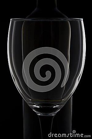 Wine glass impression