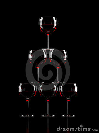Wine Glass Pyramid