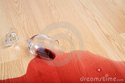 Wine glass spill