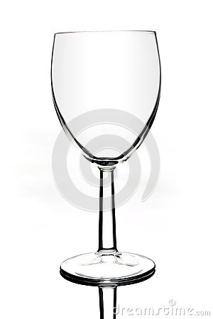 Wine glass on white