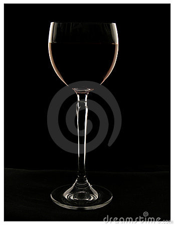 Wine glass with wine