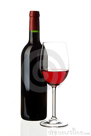 Free Wine Glass With Bottle Stock Image - 10757661