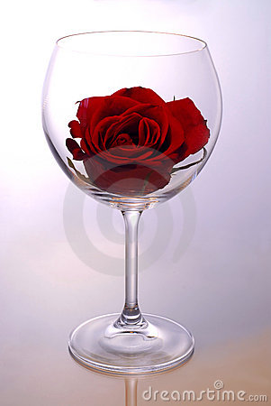 Free Wine Glass With Rose Royalty Free Stock Images - 1701679