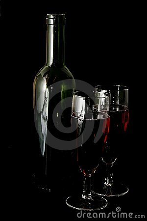 Wine Glasses on Black