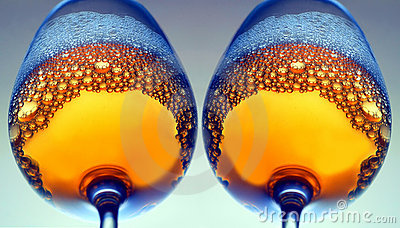 Wine Glasses With Bubbles Stock Image - Image: 16635941