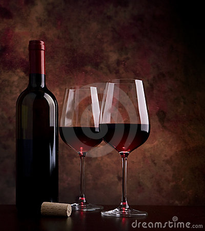 Free Wine Glasses On The Table Royalty Free Stock Photo - 17897685