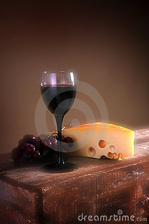 Free Wine Grapes And Cheese Stock Image - 4890711