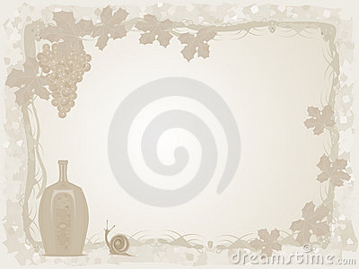 Wine and grapes background