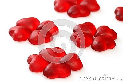 Wine gum hearts