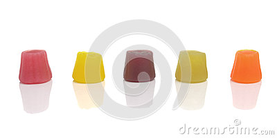 Wine Gums Isolated on White Background