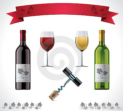 Free Wine Icon Set Royalty Free Stock Images - 23092329