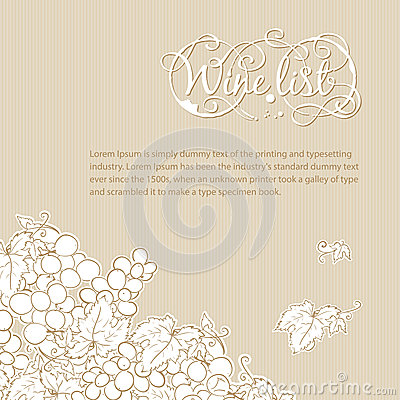 Free Wine List Cover Royalty Free Stock Photography - 28636457