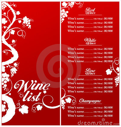 Wine List Menu Template. Royalty Free Stock Image - Image: 25520006