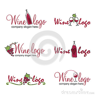 Wine logos (vector)