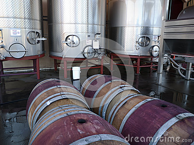 Wine making tanks and barrels