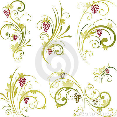 Free Wine Motifs Design Royalty Free Stock Photography - 14436827