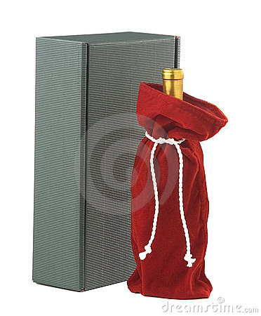 Free Wine Packaging,pouch Royalty Free Stock Photography - 314617