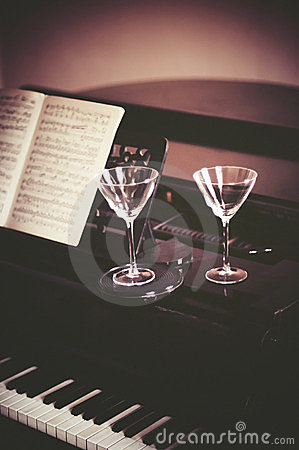 Wine and piano music