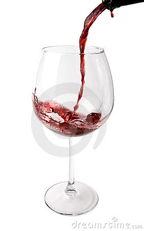 Wine Poured into Big Glass