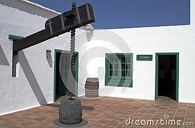 Wine press, Lanzarote, Canary Islands.