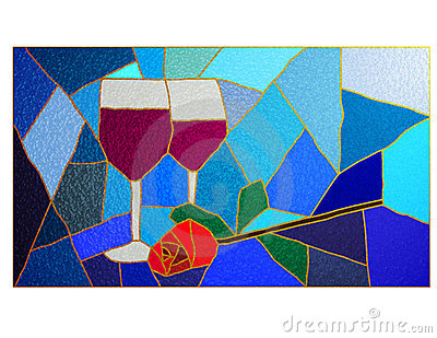 Wine and Rose Stained Glass